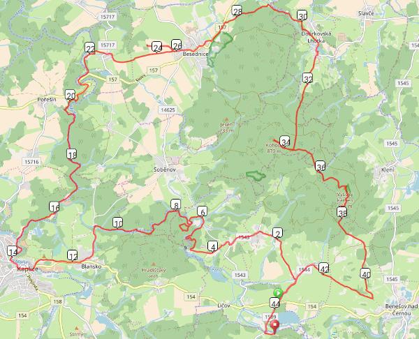 puťák - mapa